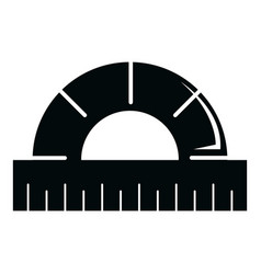 ruler icon simple black style vector image