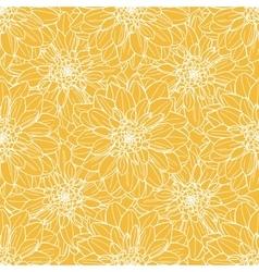 Seamless dahlia flower pattern vector