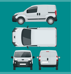 small van car isolated car template for car vector image