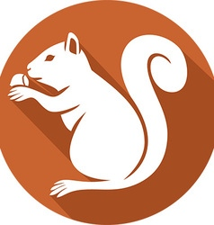 Squirrel with a Hazelnut Icon vector