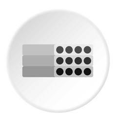 stack of precast reinforced concrete slabs icon vector image