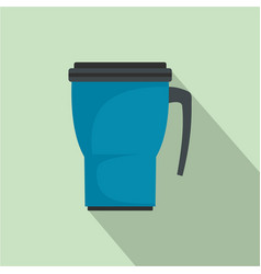 Thermo cup icon flat style vector