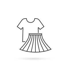 thin line icon recycled t-shirt and skirt vector image