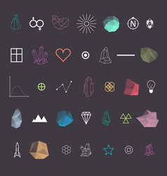 Trendy geometric shapes collection vector