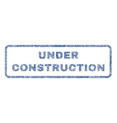 under construction textile stamp vector image