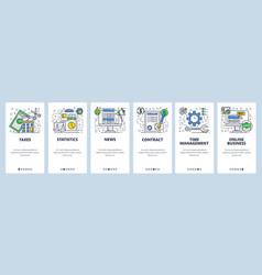 web site onboarding screens online business vector image