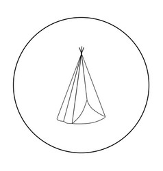 Wigwam icon outline singe western icon from the vector