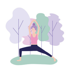 woman relax doing exercise posture vector image