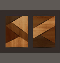 Wood texture background geometric cover vector