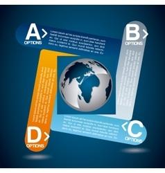 world tech vector image