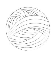 Yarn ball icon vector