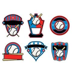 Baseball Badges and Emblems vector image vector image