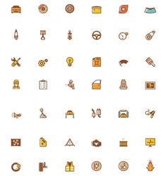 car service related icons vector image