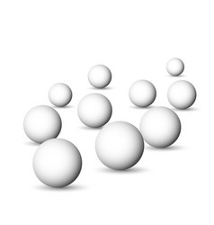 group of white spheres balls or orbs 3d vector image vector image