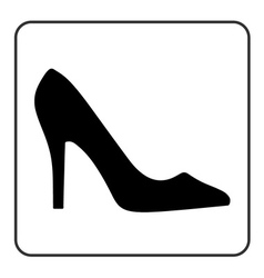High heel shoes icon vector image vector image