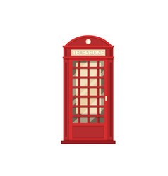 red phone booth vector image