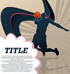 sport template poster basketball vector image