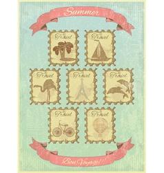 Summer Retro Card vector image