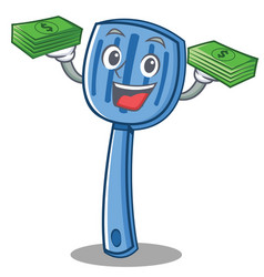 with money spatula character cartoon style vector image