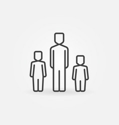father with two children icon vector image