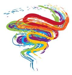 Grunge Rainbow4 vector image