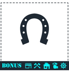 Horseshoe icon flat vector image