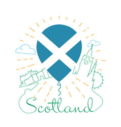 logo for travel to scotland vector image vector image