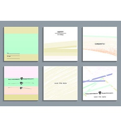 Set of artistic creative universal cards vector image