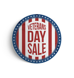 Veterans day big patriotic circle emblem vector