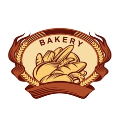 banner with bread vector image vector image