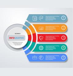 infographics web marketing icons for layout vector image vector image