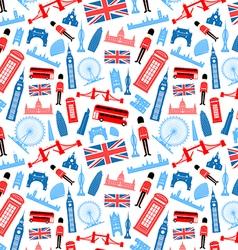 London England Seamless Pattern vector image