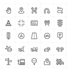 mini icon set - traffic icon vector image vector image