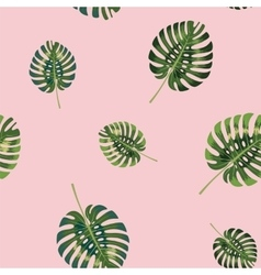 Palm Tropical leaves seamless pattern vector image