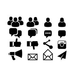 Blog and Social Media icons vector image