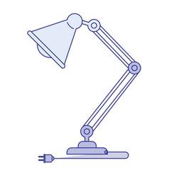 blue shading silhouette of modern desk lamp vector image vector image