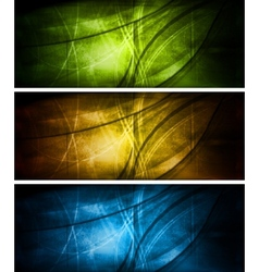 bright textural banners collection vector image