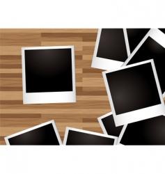 polaroid photos vector image vector image