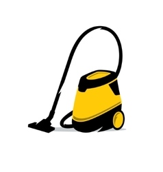 Vacuum Cleaner Cartoon vector image