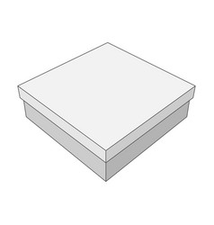 white box with place for your label vector image