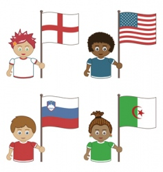 world cup football supporters vector image
