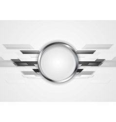 Abstract grey technology design with silver circle vector