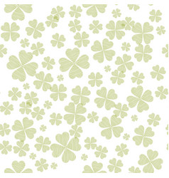 abstract seamless pattern with green shamrock vector image