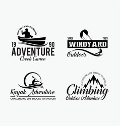 adventure logo badges 7 vector image