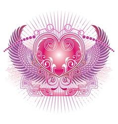 Angelic Love Heart Design vector image