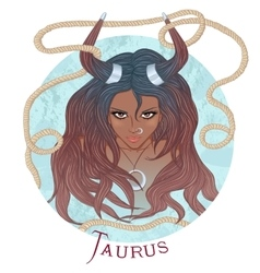 Astrological sign of Taurus as a african girl vector image