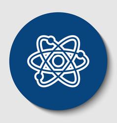 atom sign white contour icon vector image
