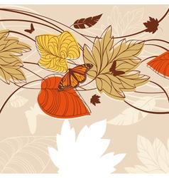 autumn design background vector image