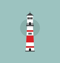 Beach lighthouse flat vector
