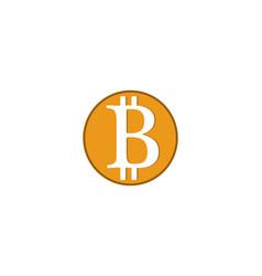 bitcoin logo template vector image